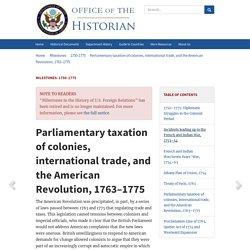Milestones: 1750–1775