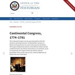 Milestones: 1776–1783