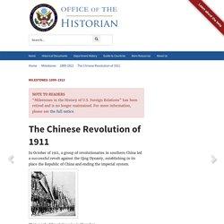 Milestones: 1899–1913