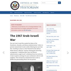 The 1967 Arab-Israeli War - 1961–1968
