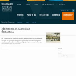Exploring Democracy · Milestones in Australian democracy · Museum of Australian Democracy at Old Parliament House