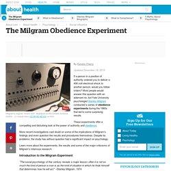 Milgram's Obedience Experiments