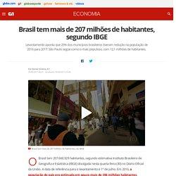 Brasil tem mais de 207 milhões de habitantes