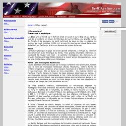 Milieu naturel États-Unis - TheUSAonline.net