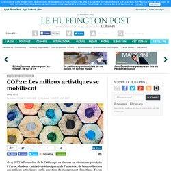 COP21: Les milieux artistiques se mobilisent