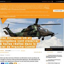 Des militaires US et européens vont s'exercer à balles réelles dans le ciel de Franche-Comté