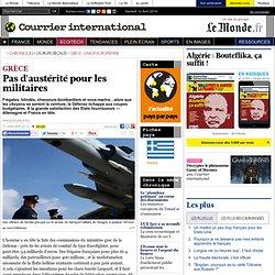 Pas d'austérité pour les militaires