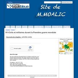 H1-Civils et militaires durant la Première guerre mondiale - Site de M.Moalic