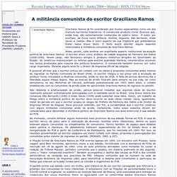A militância comunista do escritor Graciliano Ramos