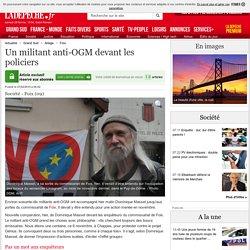Un militant anti-OGM devant les policiers - 27/02/2015