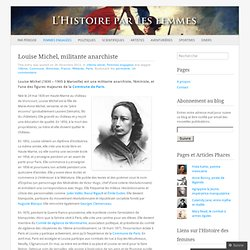 Louise Michel, militante anarchiste