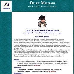 De re Militari: Guia de las Guerras Napoleonicas y Napoleon