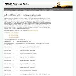 AB-155/U MS-44 Military Mast - AI4WM Amateur Radio