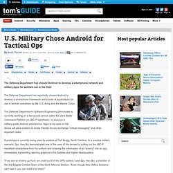 U.S. Military Chose Android for Tactical Ops