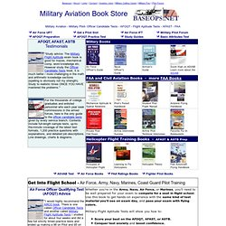 Military Aviation Bookstore - Flight School, AFOQT, OCS & OTS