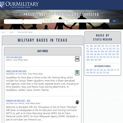 Military Bases in Texas - Our Military