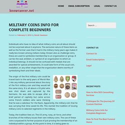 Military Coins Info for Complete Beginners