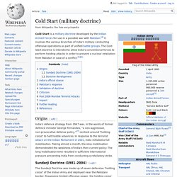 Cold Start (military doctrine) - Wikipedia