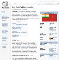 Cold Start (military doctrine) - Wikipedia