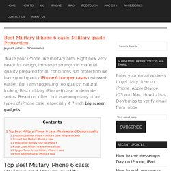 Best Military iPhone 6 case: Military grade Protection - How To iSolve