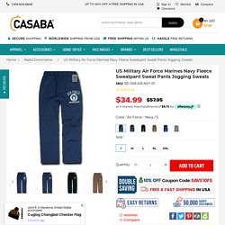 US Military Air Force Marines Navy Fleece Sweatpant Sweat Pants Joggin – Casaba Shop