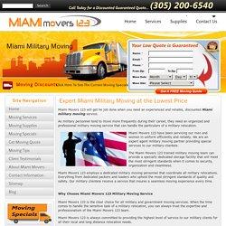 Miami Military Moving Service