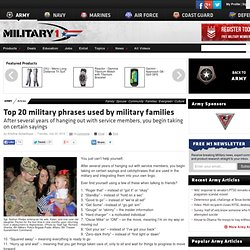 Top 20 military phrases used by military families