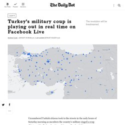 Turkey's military coup is playing out in real time on Facebook Live