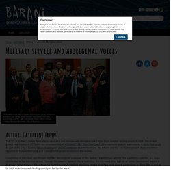 Military service and Aboriginal voices - Barani