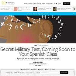 Secret Military Test, Coming Soon to Your Spanish Class - Issue 12: Feedback