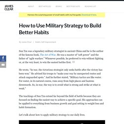 Sun Tzu: How to Use Military Strategy to Build Better Habits