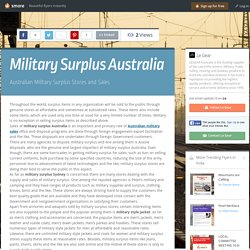 Military Surplus Australia