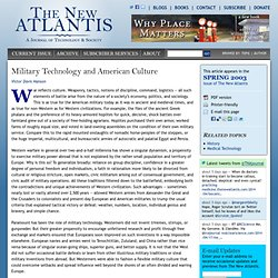 Military Technology and American Culture