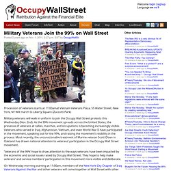 Military Veterans Join the 99% on Wall Street