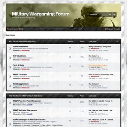 Military Wargaming Forum - Index page
