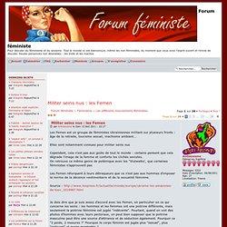 Militer seins nus : les Femen