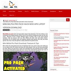 Mini Militia Pro Pack Hack Mod apk latest version download