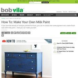 Milk Paint Recipe - How To