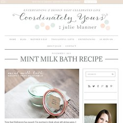 Milk Bath Recipe