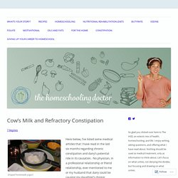 Cow's Milk and Refractory Constipation