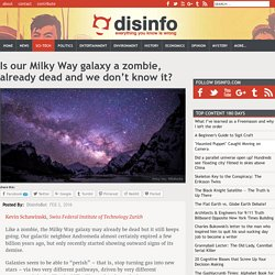 Is our Milky Way galaxy a zombie, already dead and we don't know it?