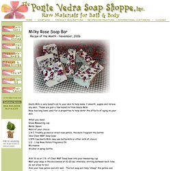 Milky Rose Soap Bar     Recipe of the Month