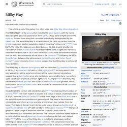 Milky Way - Wikipedia