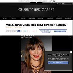 Milla Jovovich's best lipstick looks in photos