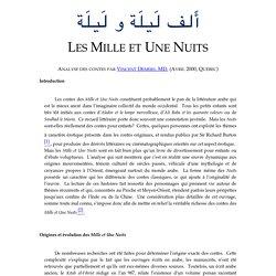 Les Mille et Une Nuits, par Vincent Demers, MD. (Avril 2000)