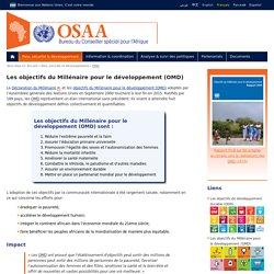 Les objectifs du Millénaire pour le développement, OMD