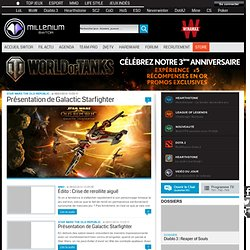 Star Wars The Old Republic : l'actualité de swtor, les vidéos, les photos.