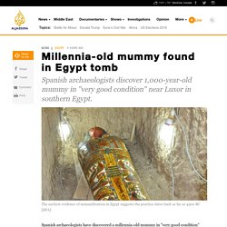 Millennia-old mummy found in Egypt tomb - News from Al Jazeera