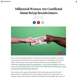 Millennial Women Conflicted About Being Breadwinners