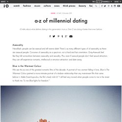 a-z of millennial dating